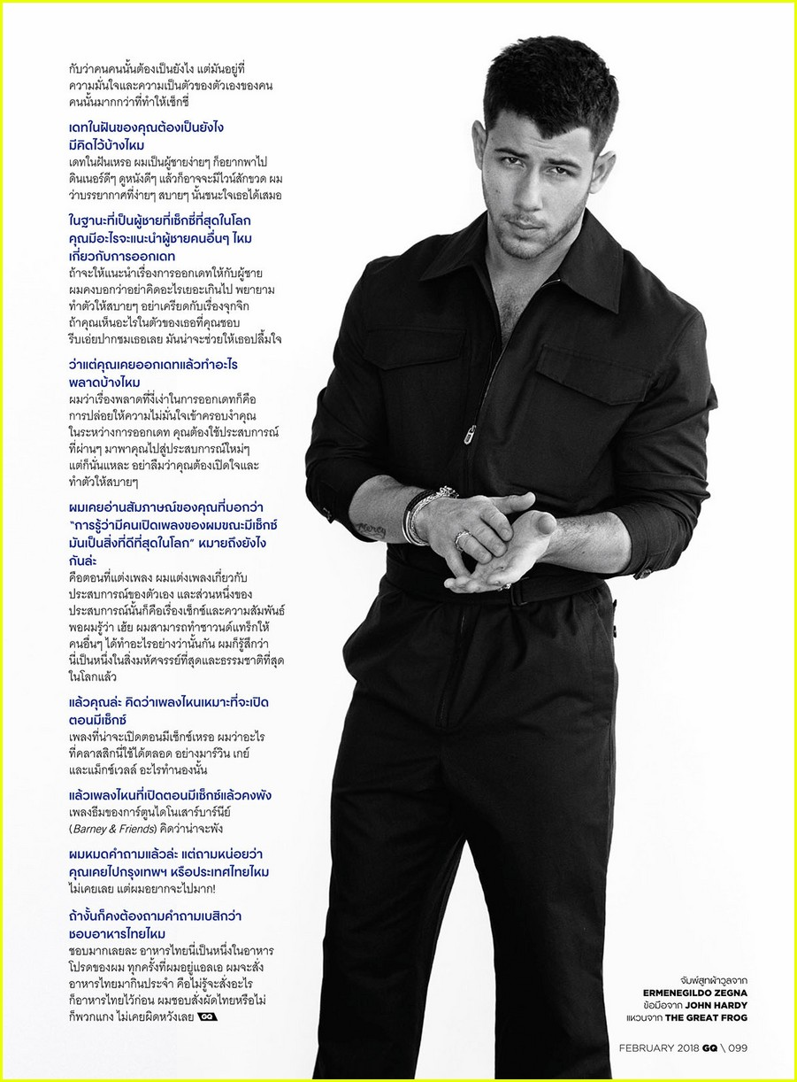nick jonas flaunts his bulging biceps for gq thailand thanks dwayne johnson 09