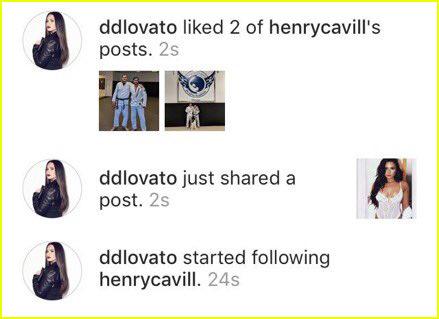 are demi lovato and henry cavill flirting on instagram 01