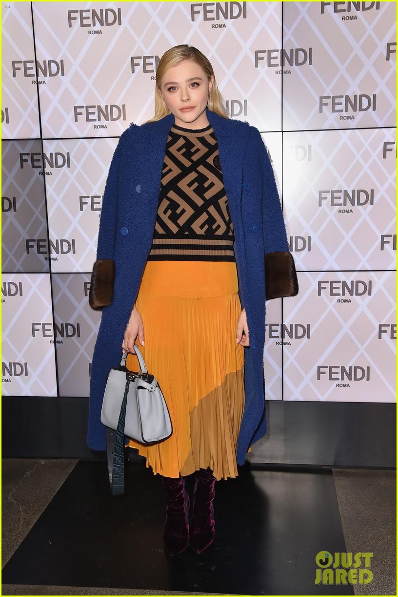 chloe moretz joins friends at fendi fashion show 05