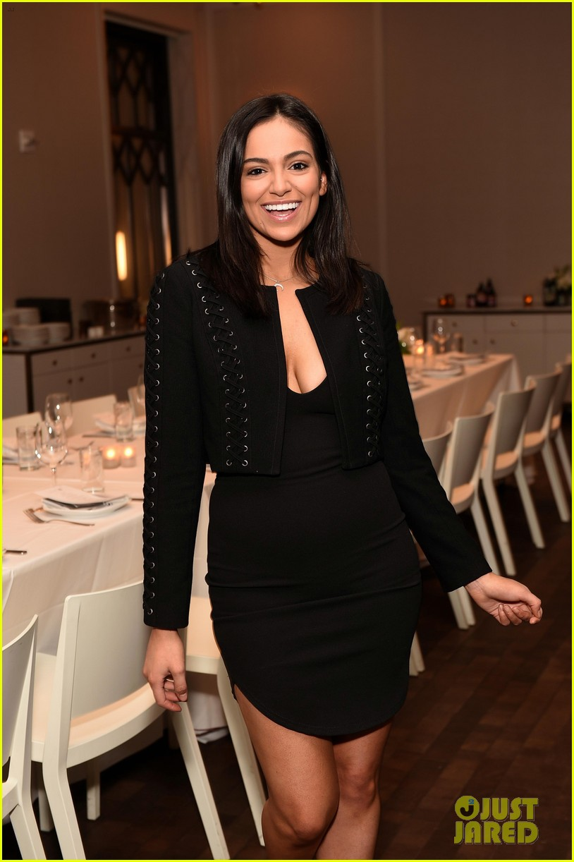 bethany mota is a beauty in black at simply nyc conference vip dinner 30