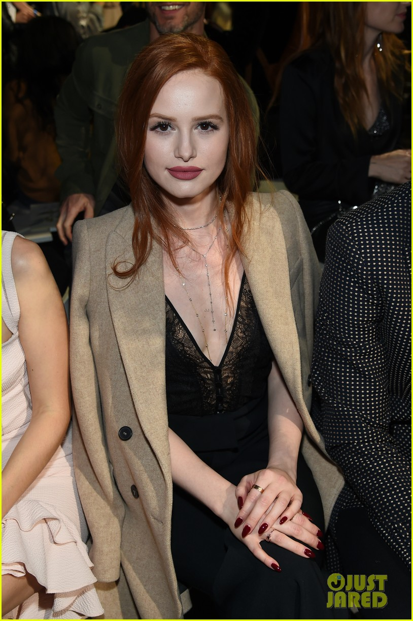 madelaine petsch travis mills sit front row at nyfw 17