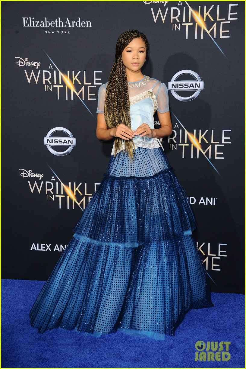 storm reid rowan blanchard and levi miller rock magical looks at a wrinkle in time premiere2 02
