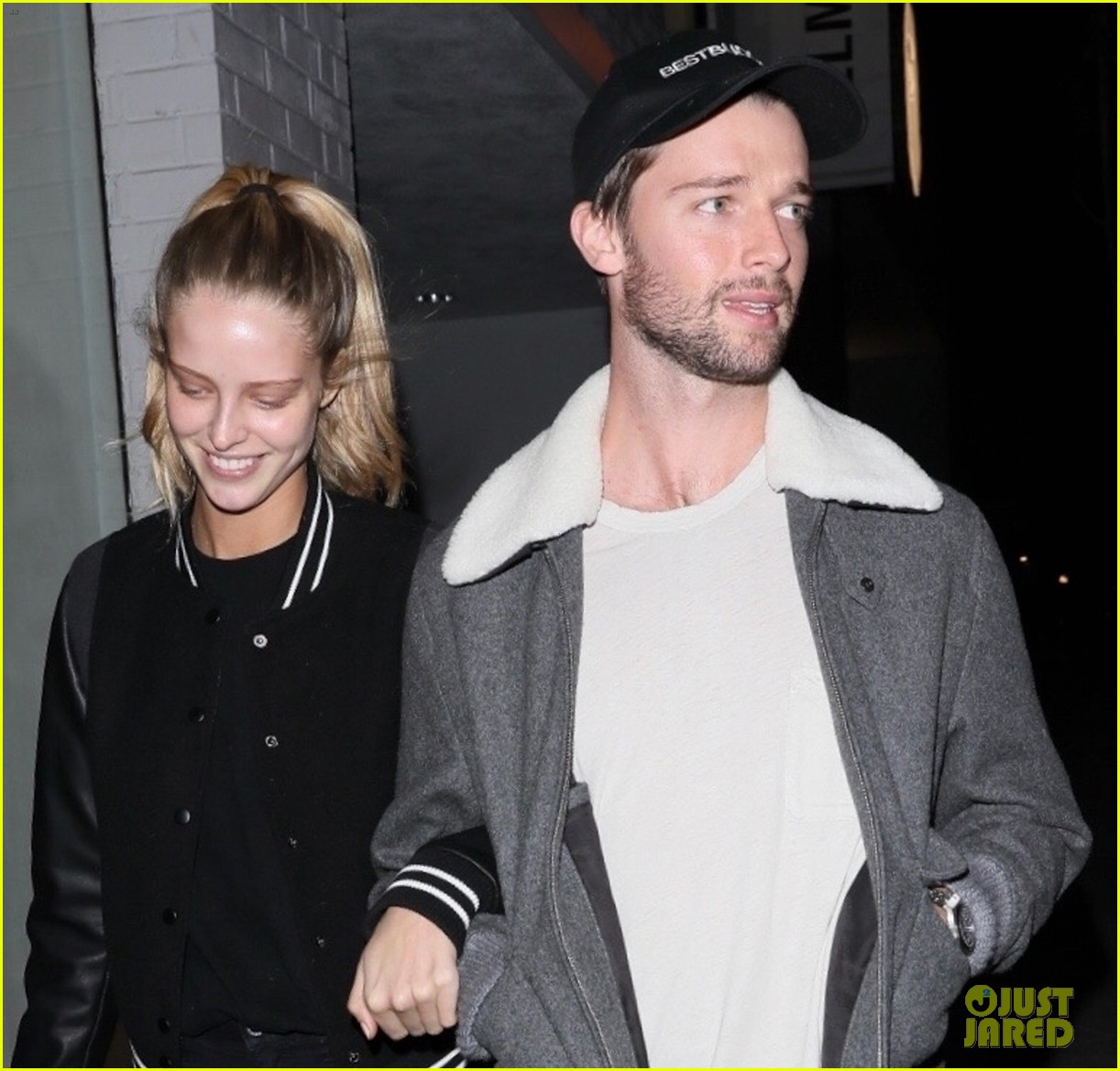 patrick schwarzenegger and girlfriend abby champion step out for dinner date 03