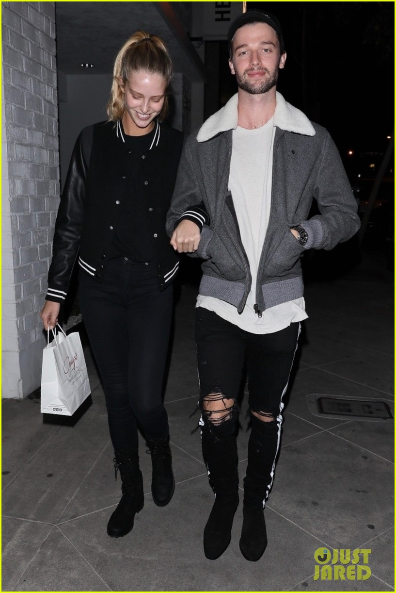 patrick schwarzenegger and girlfriend abby champion step out for dinner date 04