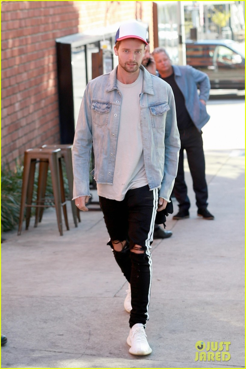 patrick schwarzenegger and girlfriend abby champion step out for dinner date 05