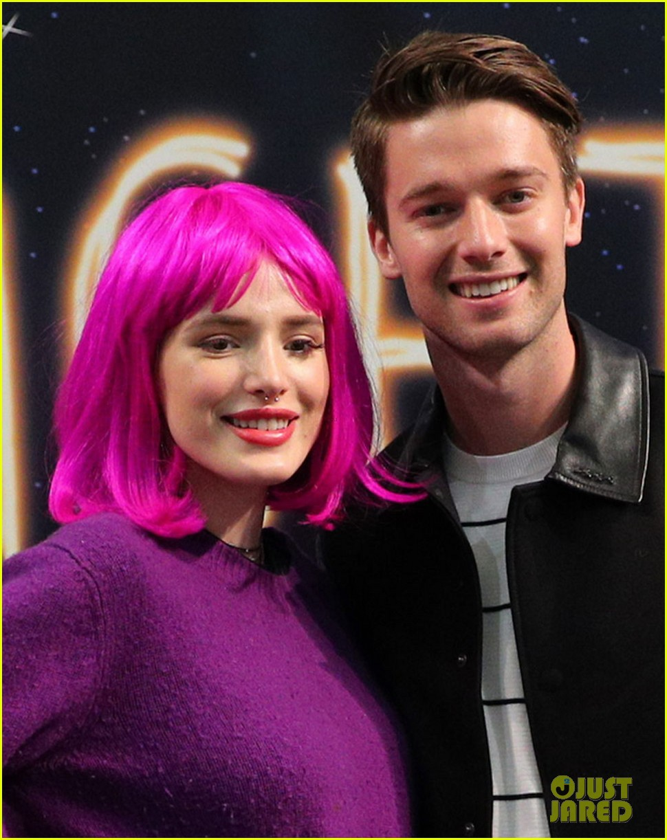 bella thorne wears pink wig to midnight sun promo event 01