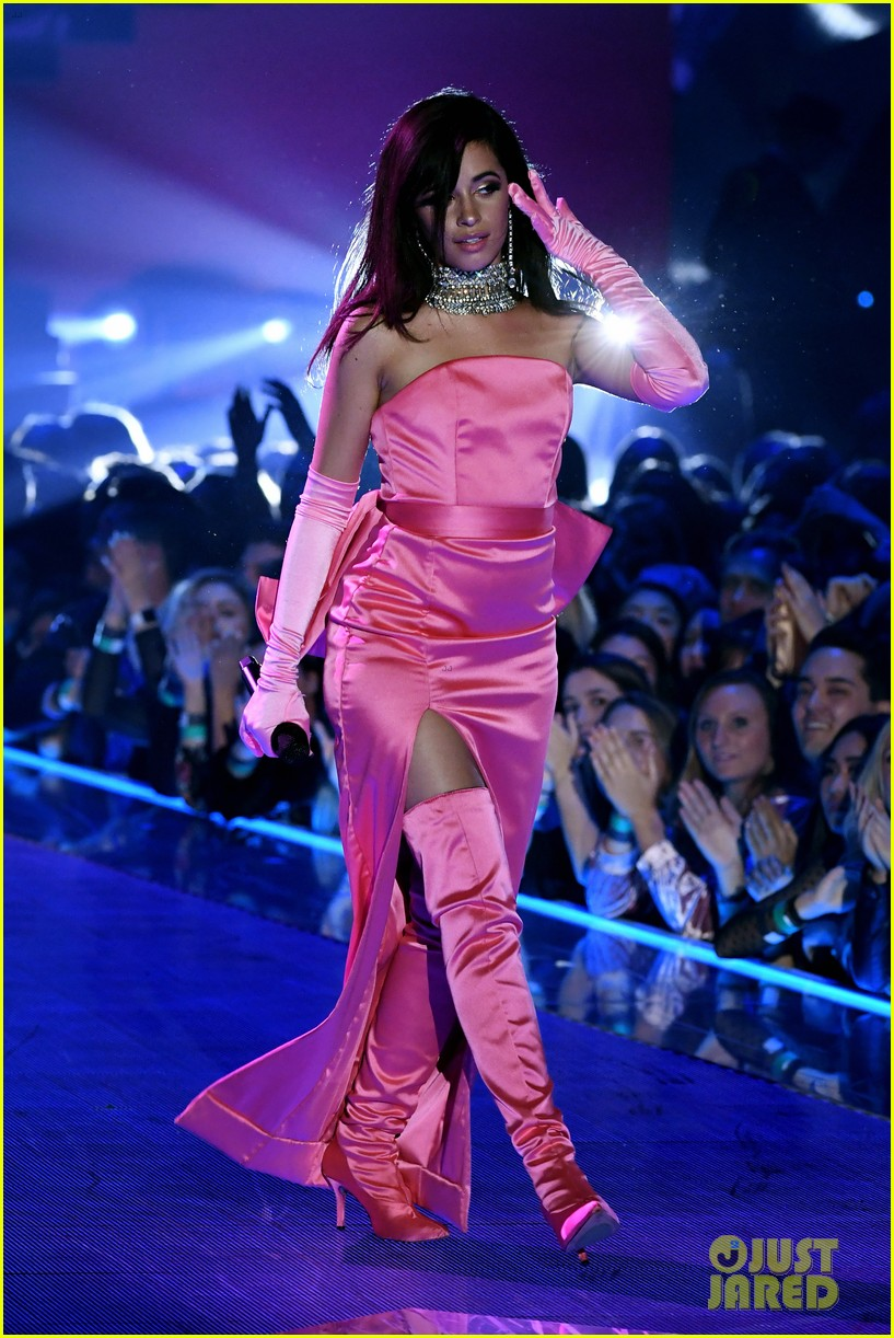 Camila Cabello Dons Pink Dress For Havana Performance At