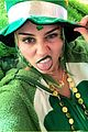 miley cyrus celebrates st patricks day with dfestive outfit 03