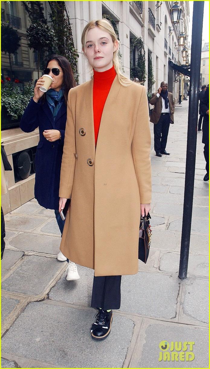 06b11ce220c Elle Fanning   Kaia Gerber Go High Fashion at the Miu Miu Fashion ...