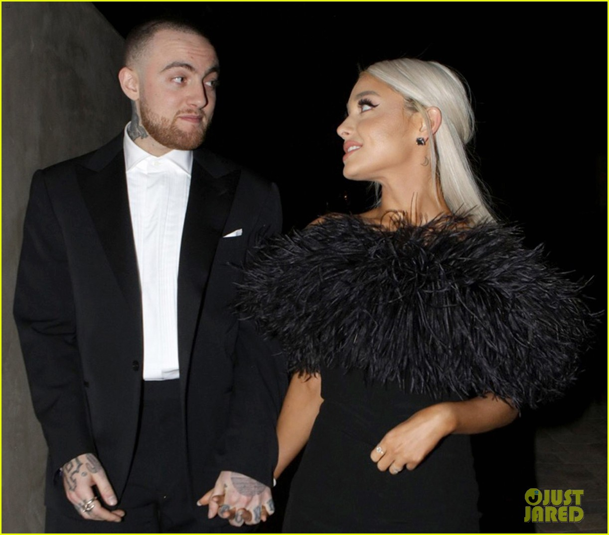 ariana grande and mac miller attend madonnas oscars party2 07