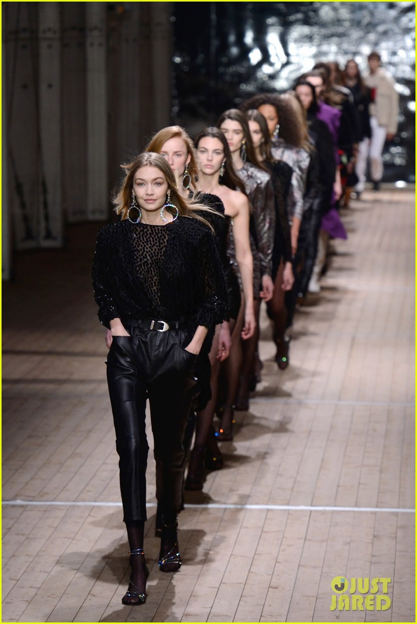 gigi hadid wears two looks for isabel marant show 03