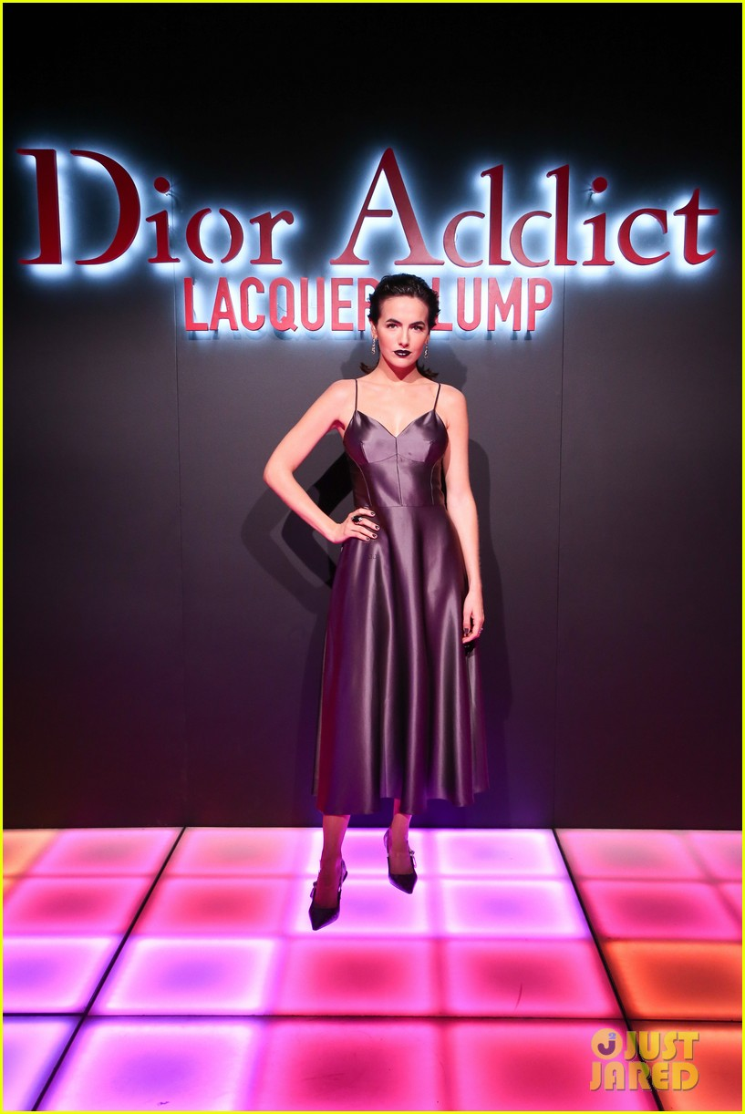 bella hadid natalia dyer charlie heaton celebrate dior addict lacquer plump launch 03