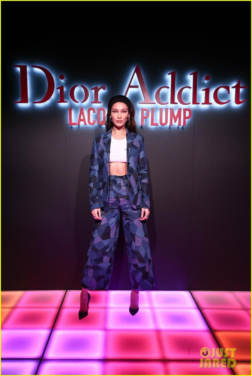 bella hadid natalia dyer charlie heaton celebrate dior addict lacquer plump launch 04