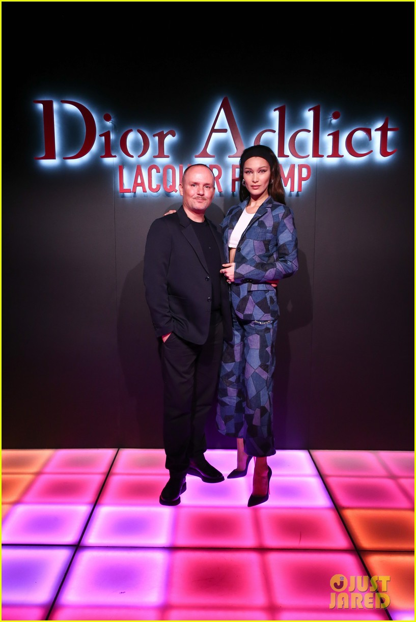 bella hadid natalia dyer charlie heaton celebrate dior addict lacquer plump launch 13