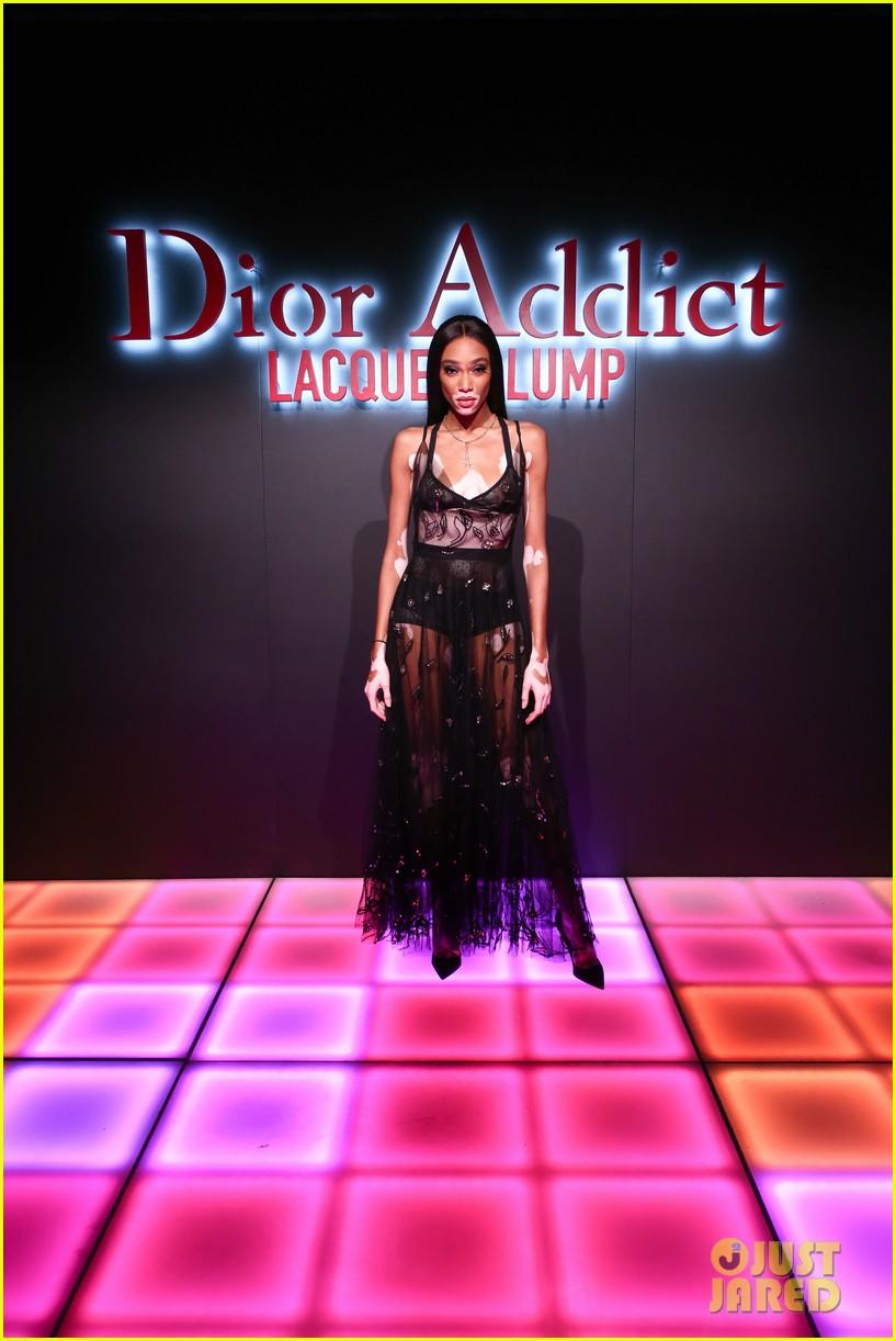 bella hadid natalia dyer charlie heaton celebrate dior addict lacquer plump launch 18
