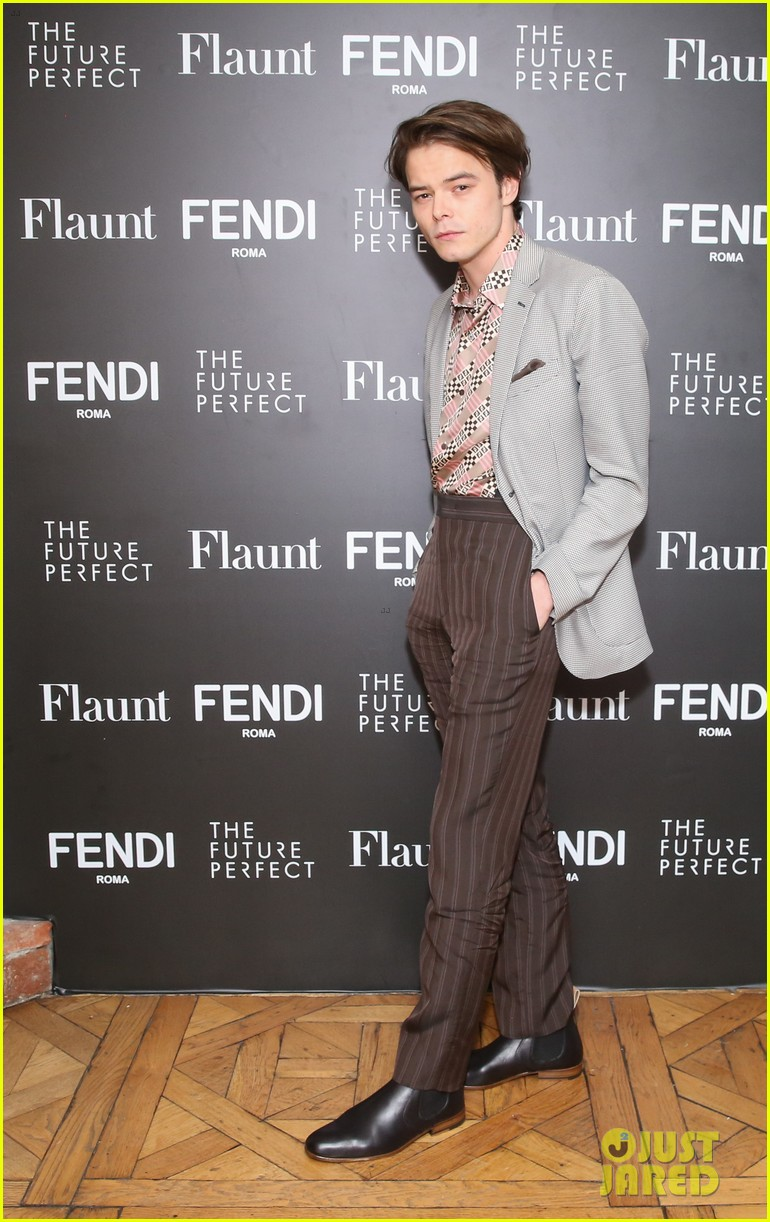 charlie heaton fendi event 13