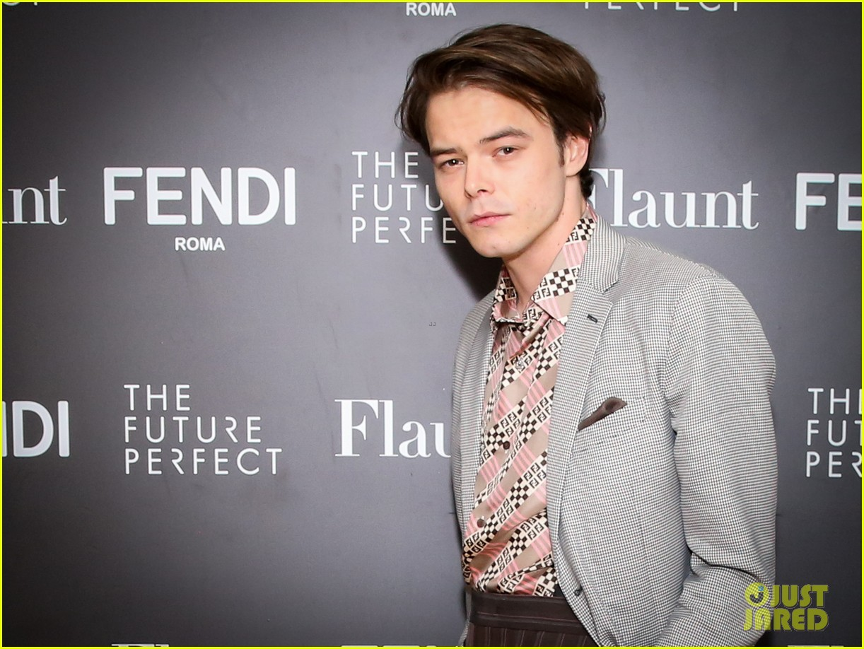 charlie heaton fendi event 14