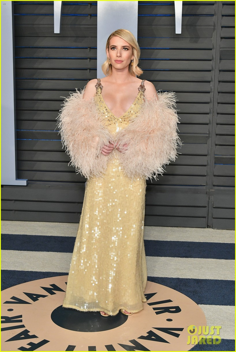 Emma Roberts Attends An Oscars After Party With Evan Peters Photo 1144624 2018 Oscars Emma Roberts Evan Peters Oscars Pictures Just Jared Jr