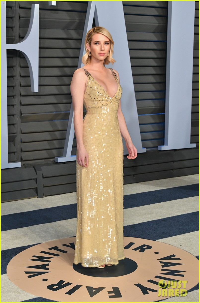 Emma Roberts Attends An Oscars After Party With Evan Peters Photo 1144630 2018 Oscars Emma Roberts Evan Peters Oscars Pictures Just Jared Jr
