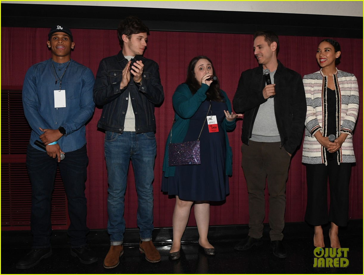 nick robinson love simon screening 09