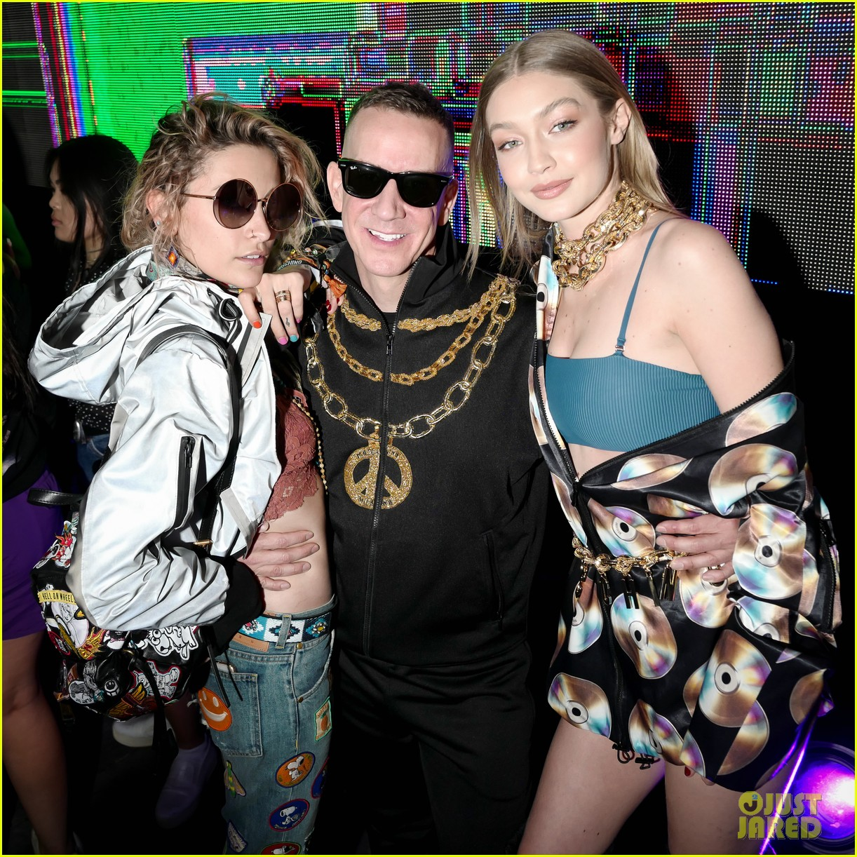gigi hadid cardi b take over the dj booth at moschino coachella party 03