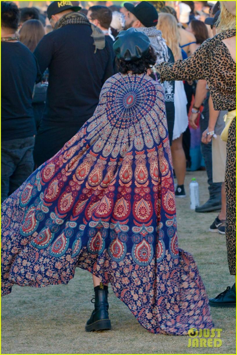 vanessa hudgens goes boho chic in paisley kimono at coachella 05
