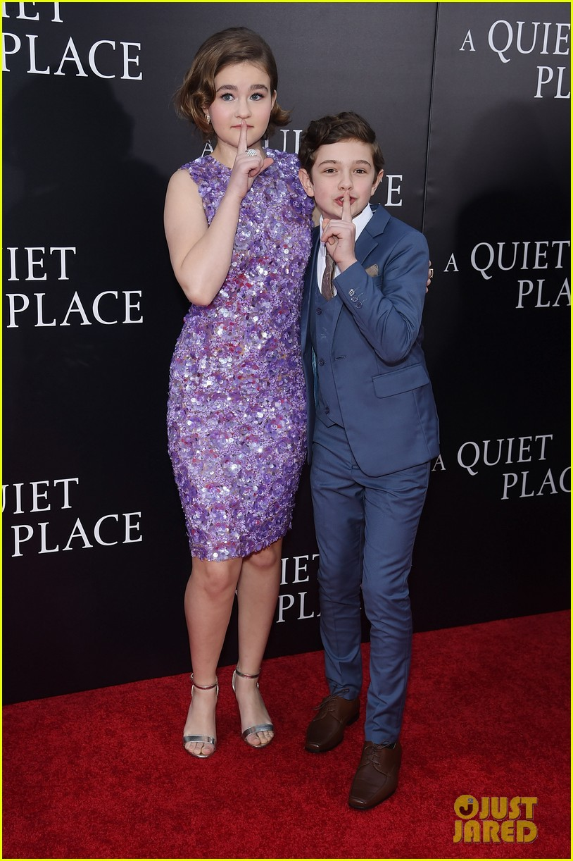 noah jupe millicent simmonds a quiet place premiere 09