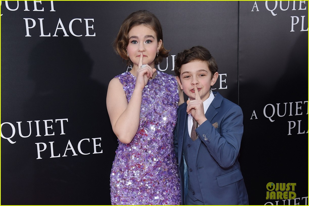 noah jupe millicent simmonds a quiet place premiere 10