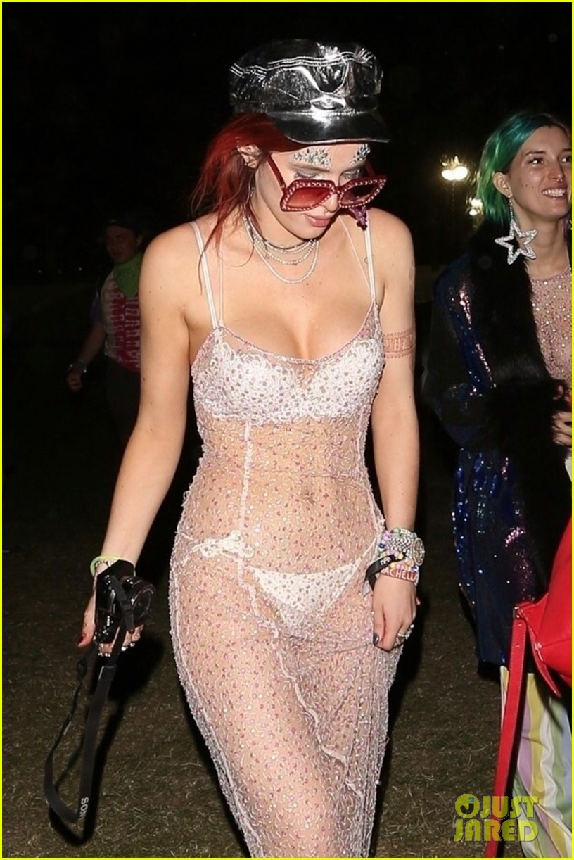 bella thorne sheer dress coachella mod sun 03