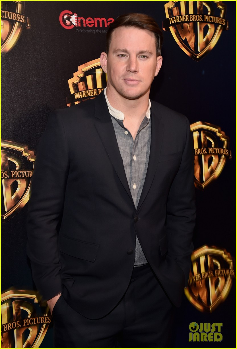 channing tatum makes first red carpet since announcing split cinemacon 02