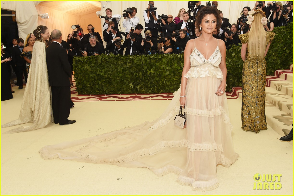selena gomez looks heavenly in sheer gown at met gala 2018 03