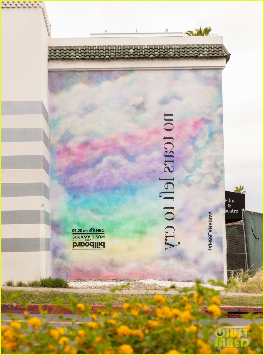 ariana grande debuts no tears left to cry mural on sunset boulevard 01