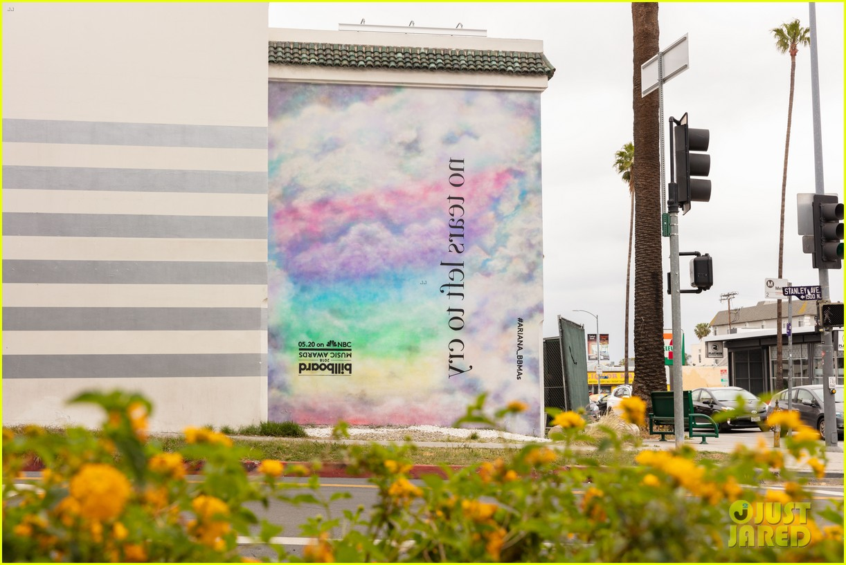 ariana grande debuts no tears left to cry mural on sunset boulevard 02