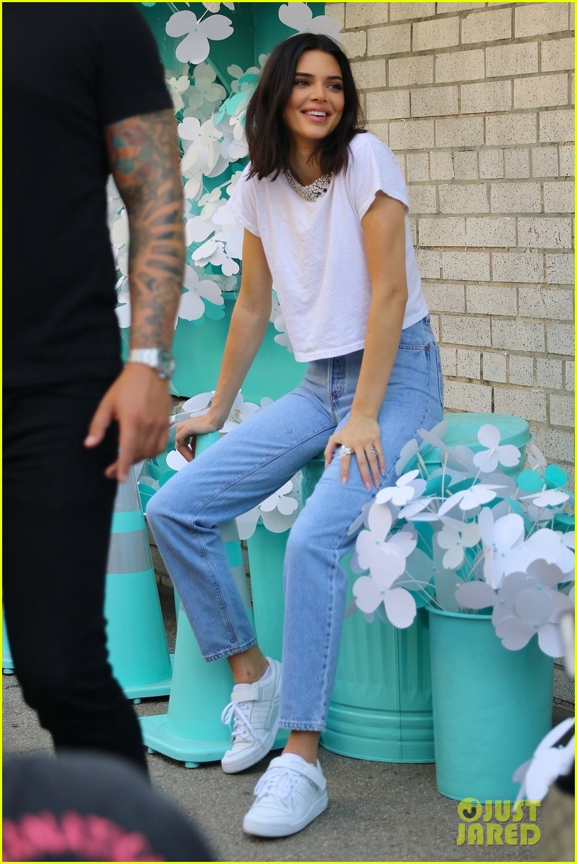 kendall jenner poses for tiffany blue photo shoot in nyc 10