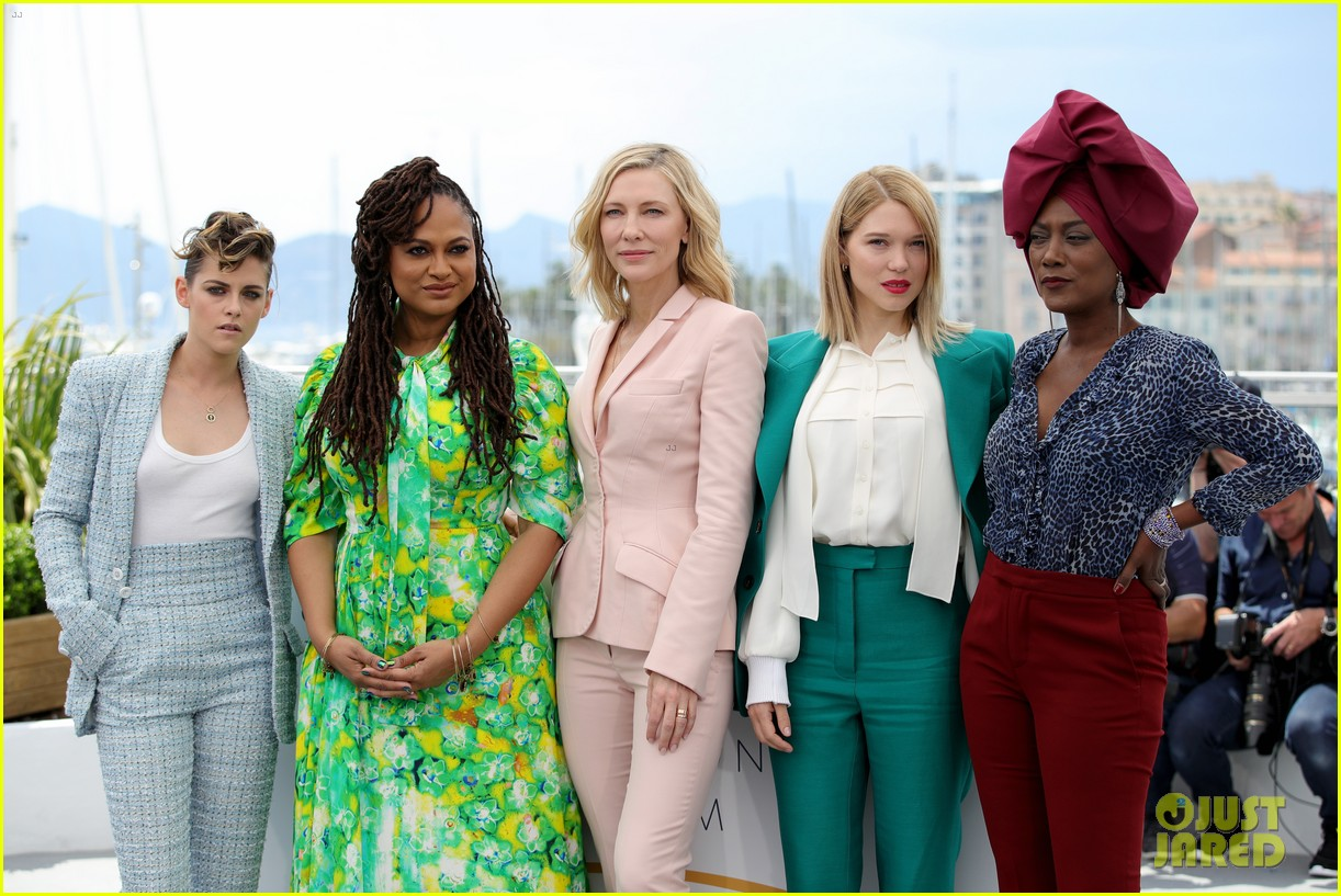 cate blanchet kristen stewart ava duvernay lea sedoux for cannes jury photo call 02