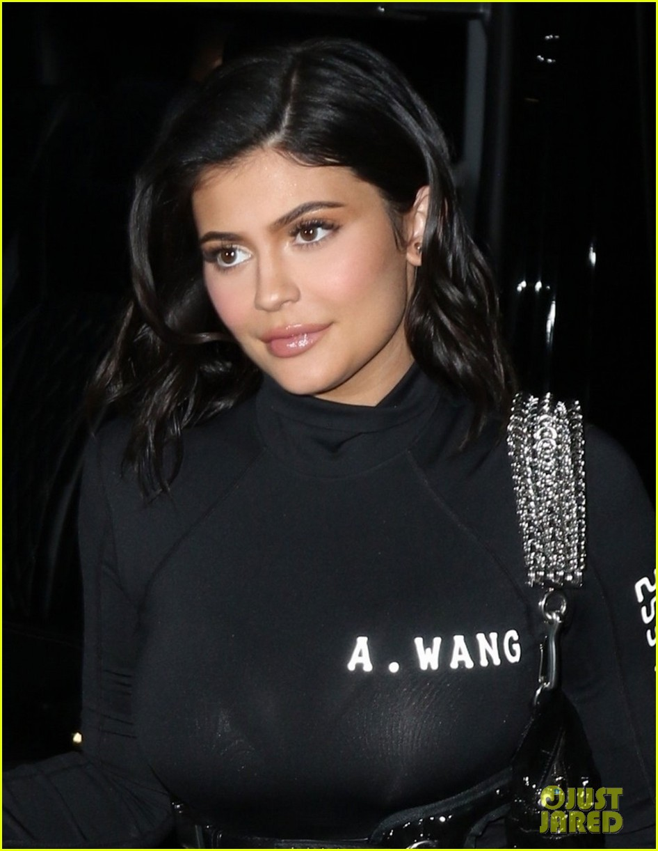 kylie jenner wears form fitting outfit for night out ahead of met gala 08