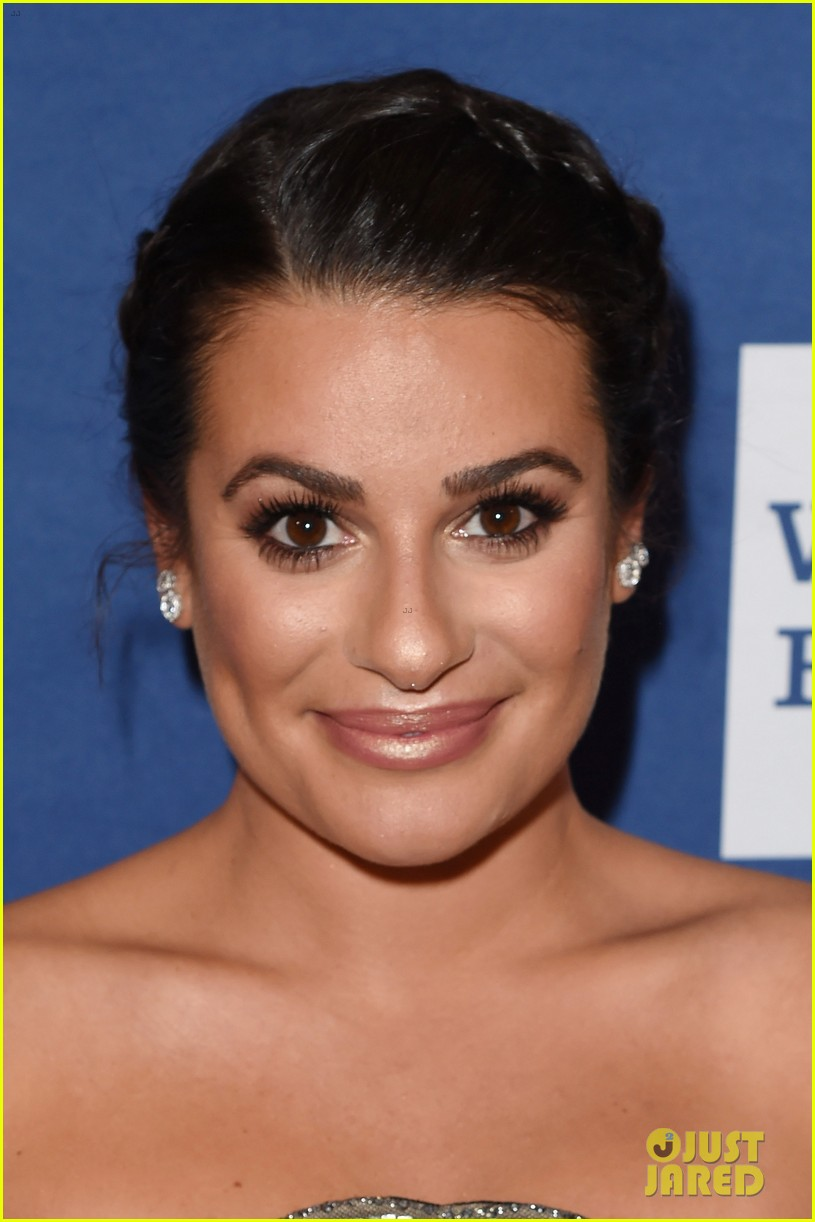 lea michele shows off engagement ring at glaad media awards 07