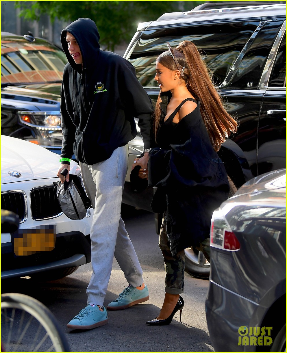 ariana grande sports cat ears while kicking off birthday celebrations with pete davidson 03