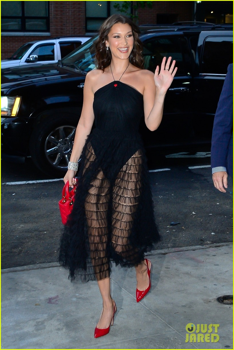 bella hadid stun at door event in nyc 01