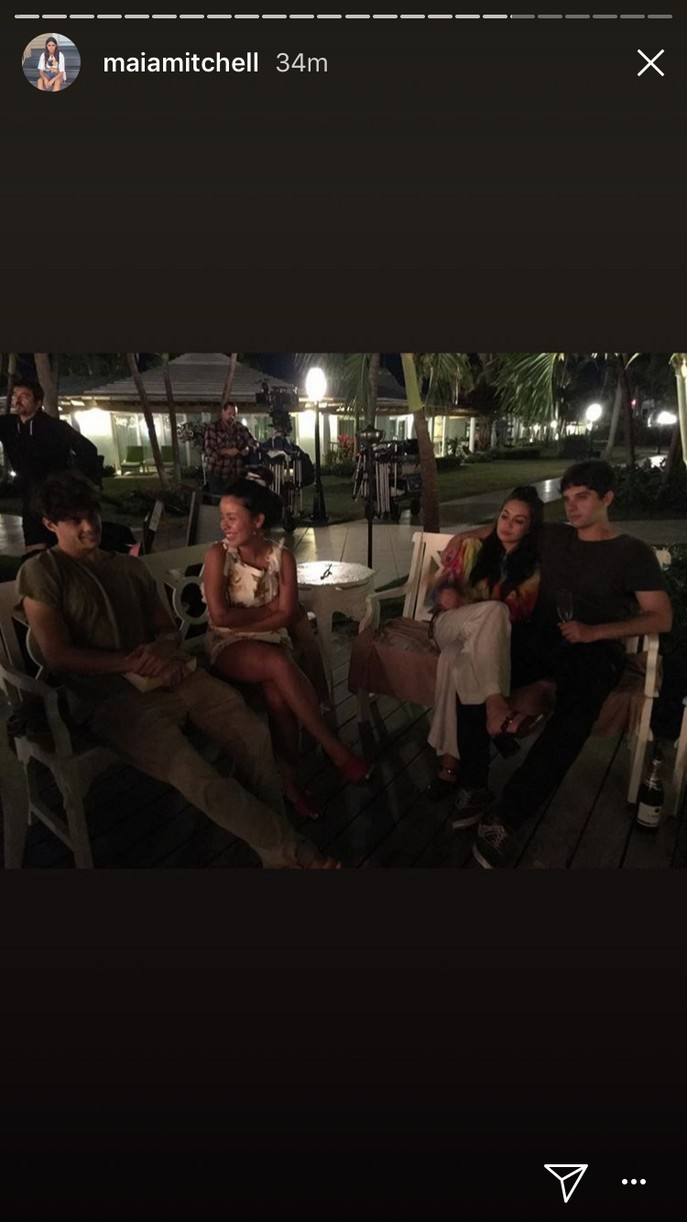 maia mitchell final day fosters filming pics 12