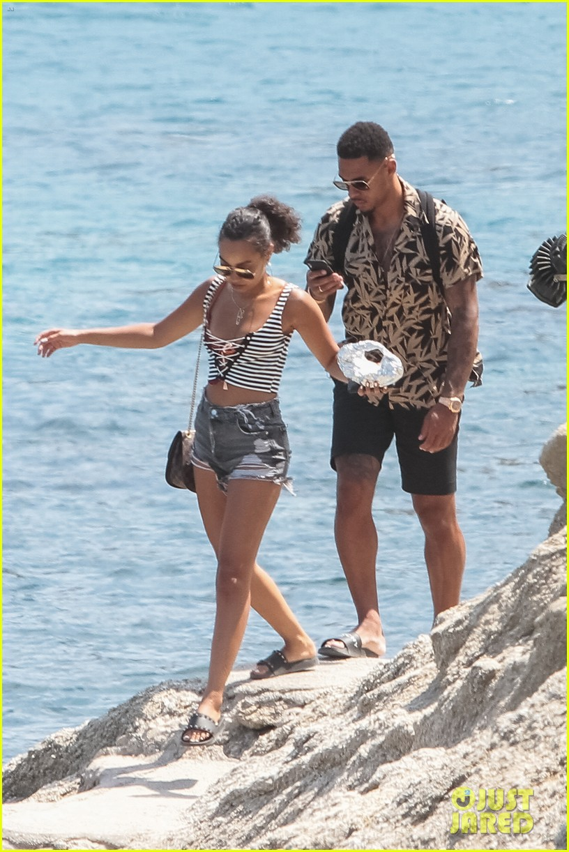 leigh anne pinnock and boyfriend andre gray enjoy mykonos vacation 05