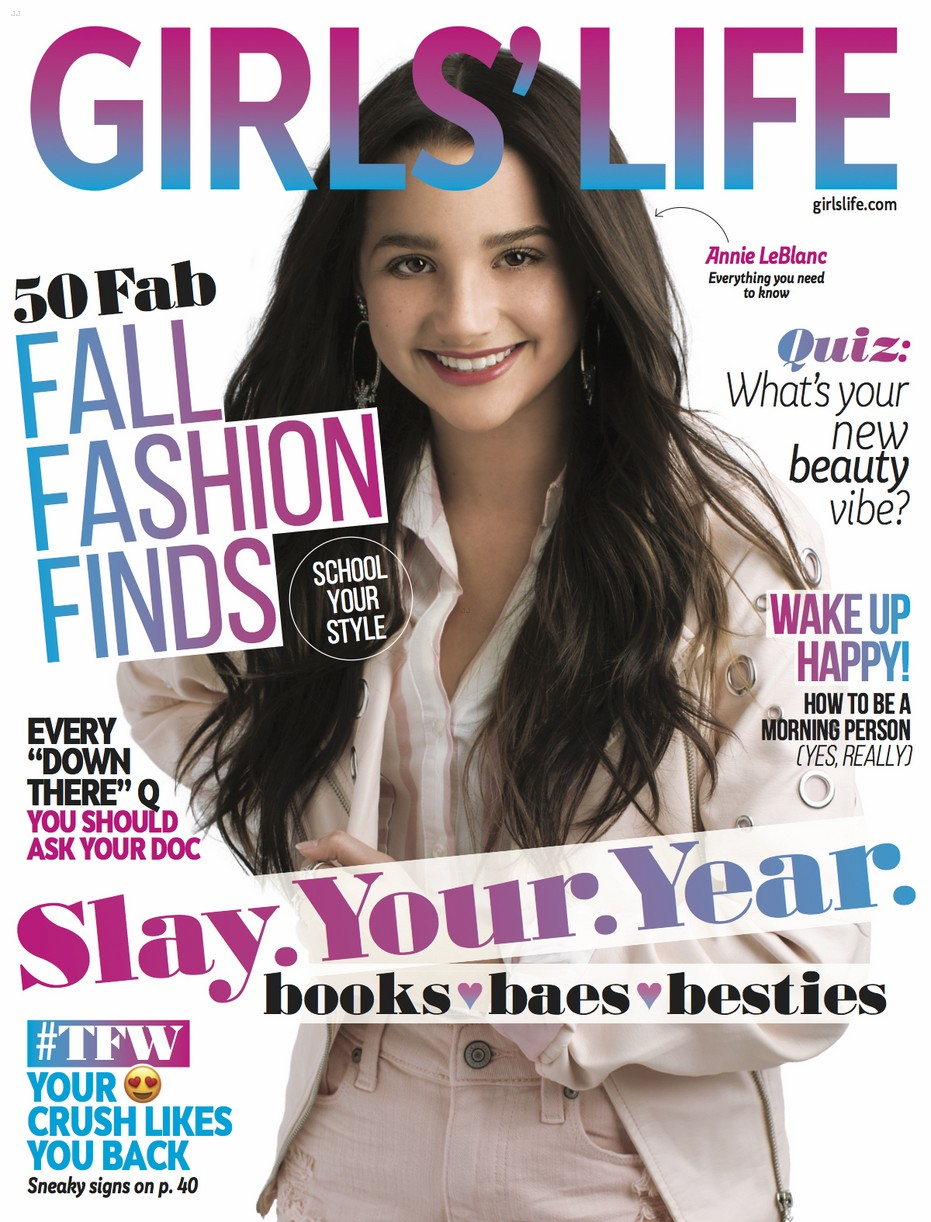 annie leblanc girls life bts issue 02