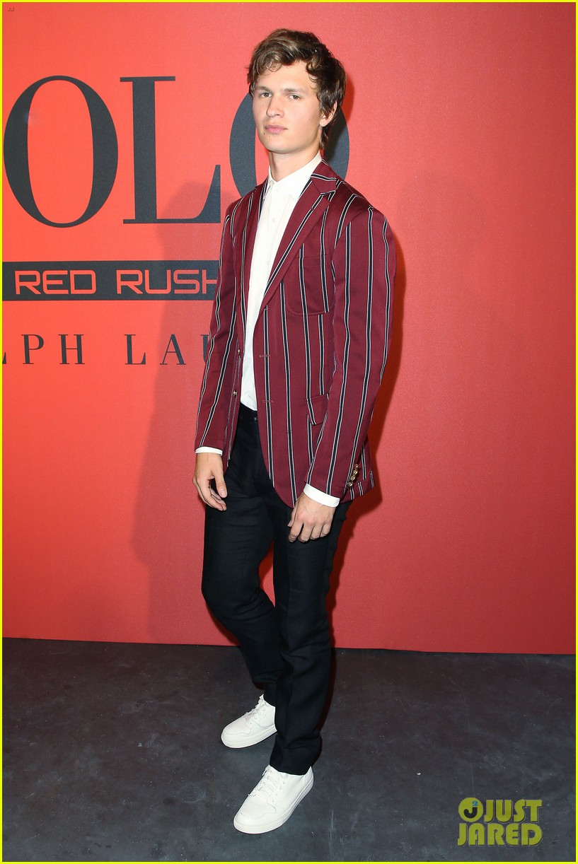 ansel elgort polo red 2018 02