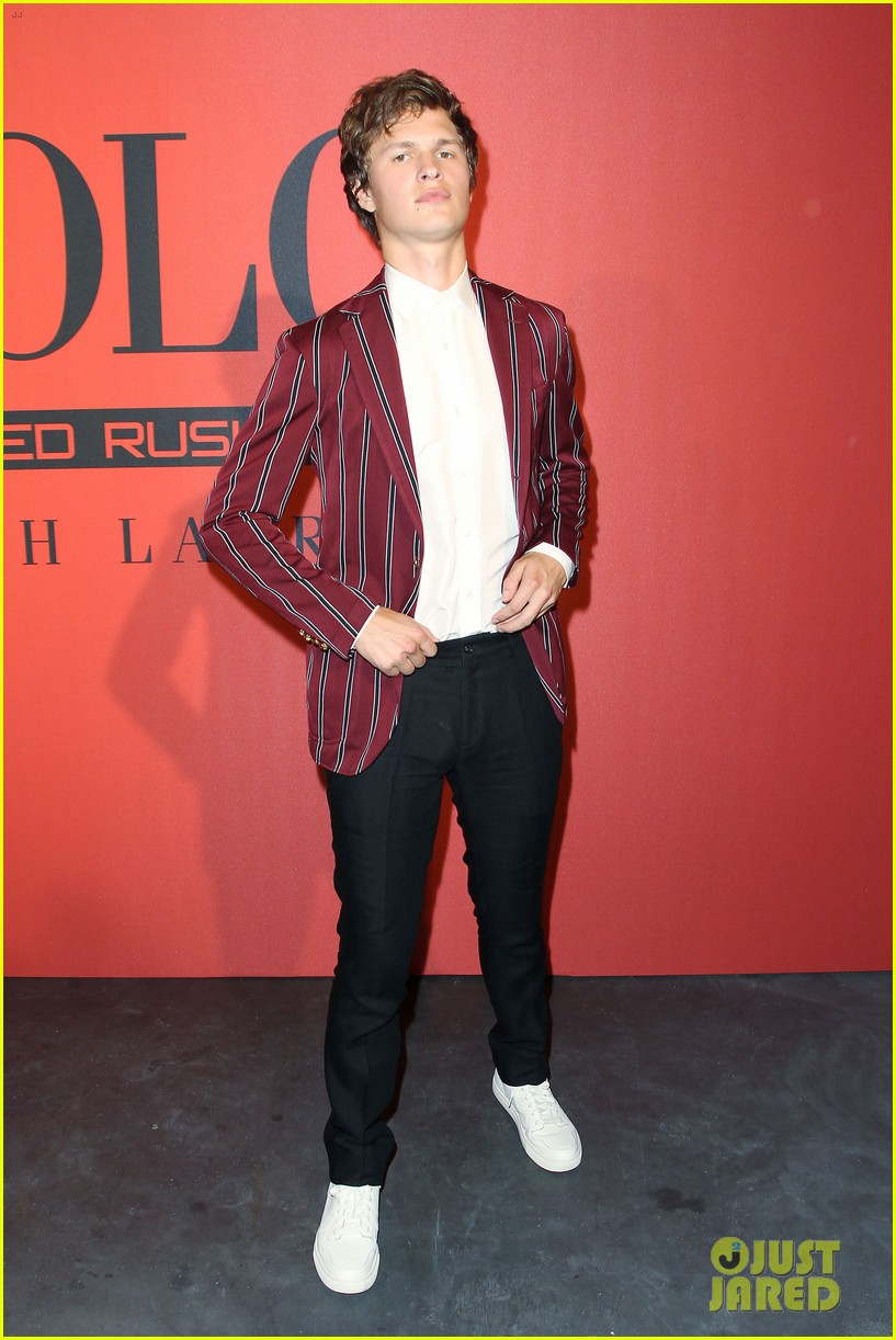 ansel elgort polo red 2018 05