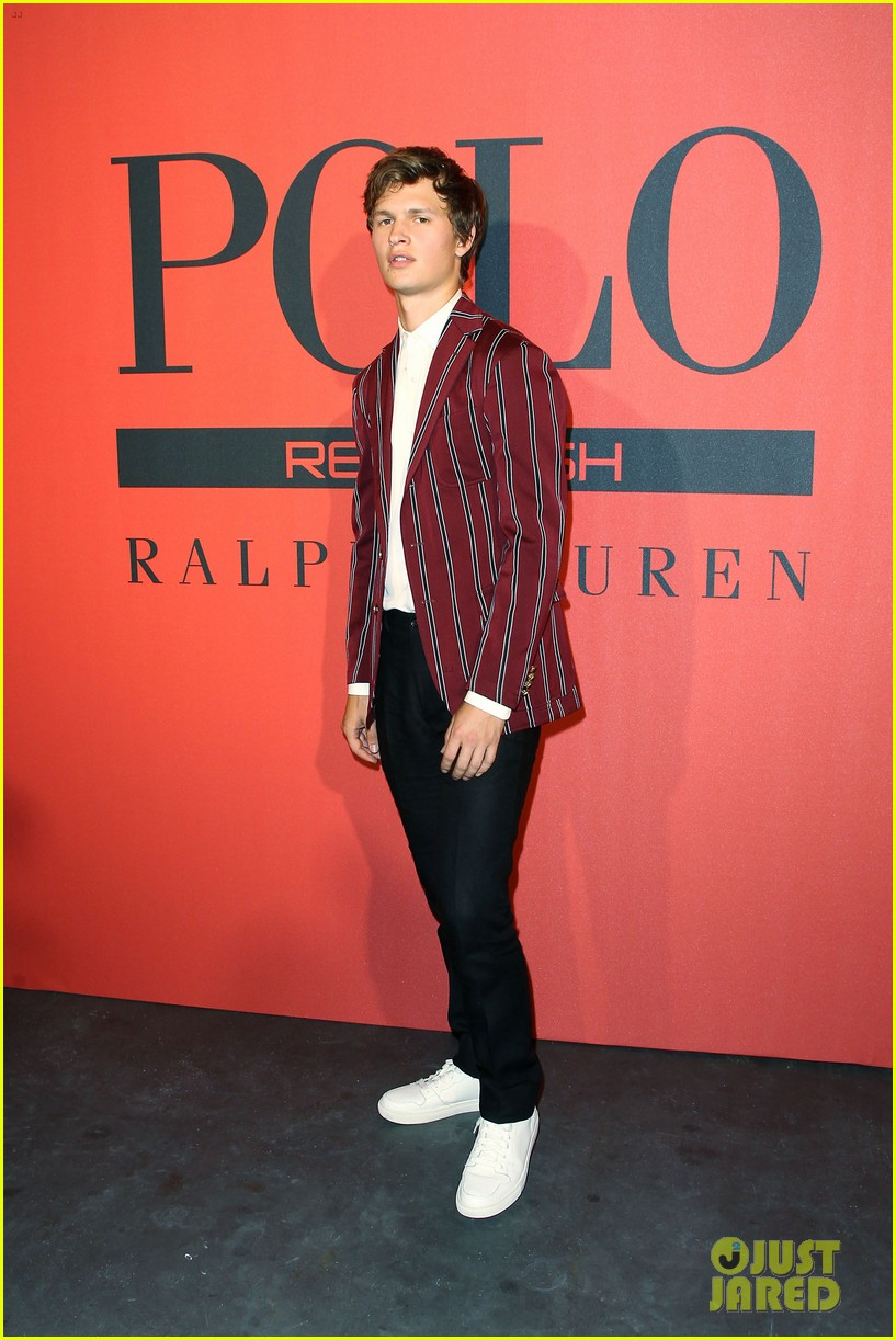 ansel elgort polo red 2018 09