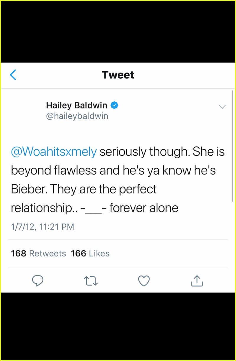 hailey baldwins jelena tweets justin bieber selena gomez 01