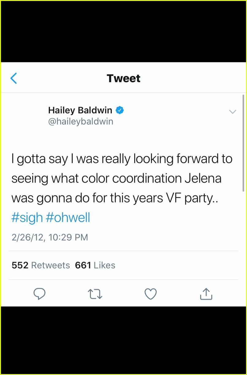 hailey baldwins jelena tweets justin bieber selena gomez 03