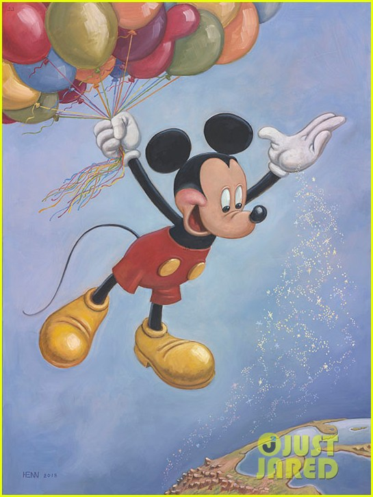 mickey mouse unveils anniversary painting 01