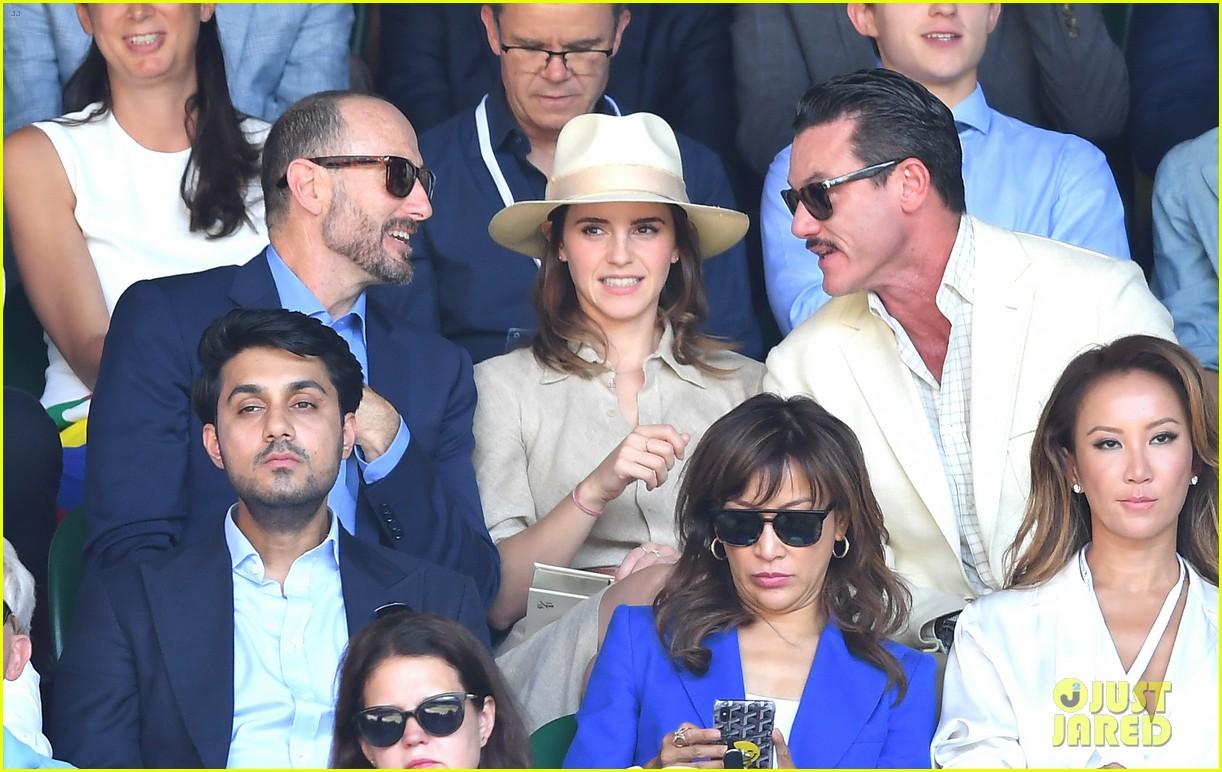 Emma Watson Luke Evans Meet Up With Tom Holland At Wimbledon
