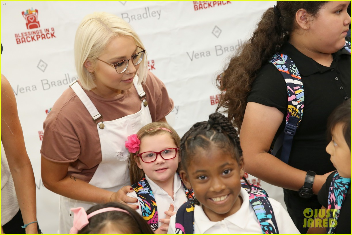 jason aldean and brittany host vera bradley x blessings in a backpack event 13